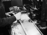 Worker at the Newspaper Printing Facility of the Daily Il Resto Del Carlino of Bologna