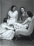 Wanda and Marion Wulz with Two Friends