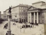 Piazza Della Borsa  in Trieste  Italy  with the Palazzo Della Borsa Vecchia