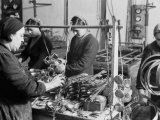 Female Workers in Factory of the Giordani Company  Producer of Baby Carriages and Bicycles