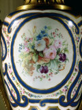 Detail of Porcelain Vase Decorated with Blue Ribbons and Flowers  Property of Buton