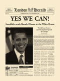 Yes We Can! Reproduction d'art par The Vintage Collection