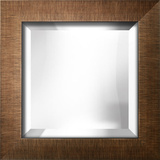 Brushed Bronze Bevel Mirror