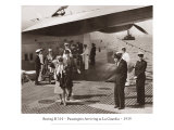 Boeing B-314  Passengers Arrive at La Gaurdia  1939