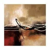 Symphonie en rouge et kaki II Giclée premium par Laurie Maitland