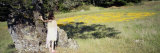 Girl Standing Near a Tree  Marin County  California  USA