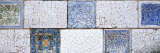 Mosaic Details on a Wall  Park Guell  El Carmel  Gracia  Barcelona  Catalonia  Spain