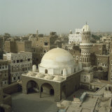 Mosque and City Skyline  Sana'A  Yemen  Middle East