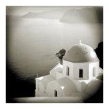 Polaroid of Domed Church  Oia  Santorini  Cyclades  Greek Islands  Greece  Europe