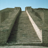 Staircase on Ziggurat  Ruins of Ur  Iraq  Middle East