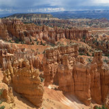 Pinnacles Viewed from Inspiration Point  in the Bryce Canyon National Park  Utah  USA
