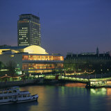 Royal Festival Hall Illuminated at Dusk  South Bank  London  England  United Kingdom  Europe