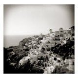 Polaroid of View of the Village of Oia  Santorini  Cyclades  Greek Islands  Greece  Europe