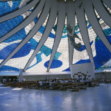 Interior of the Catedral Metropolitana  Brasilia  Brazil  South America