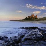 Bamburgh Castle Bathed in Warm Evening Light  Bamburgh  Northumberland  England  United Kingdom