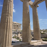 Parthenon Viewed from Propylaea  the Acropolis  UNESCO World Heritage Site  Athens  Greece