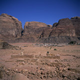 Nabatean Temple Dating from the 1st Century AD  Wadi Rum  Jabal Umm Ishrin  Jordan  Middle East