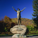Hail to the Sunrise Statue of Mohawk Indian  on the Mohawk Trail  Massachusetts  New England  USA