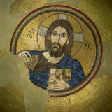 Mosaic of the Almighty  Pantocrator  in the Monastery of Daphni  Greece  Europe