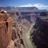 Deep Gorge of the Colorado River on the West Rim of the Grand Canyon  Arizona  USA