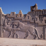 Detail from Persepolis  UNESCO World Heritage Site  Iran  Middle East