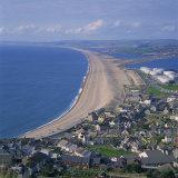 Chesil Beach  Seen from Portland  Dorset  England  United Kingdom  Europe