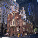 Red Brick Old State House  Boston  Massachusetts  New England  USA