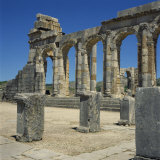 Roman Ruins  Volubilis  UNESCO World Heritage Site  Morocco  North Africa  Africa
