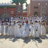 Dancers in Traditional Dress for the Date Festival  Erfoud  Morocco  North Africa  Africa