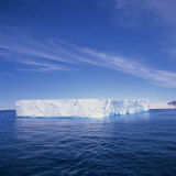 Tabular Iceberg in Blue Sea in Antarctica  Polar Regions