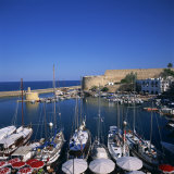 Boats in Harbour and Kyrenia Castle  Kyrenia  North Cyprus