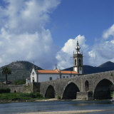 Church and the Medieval Ponte De Lima  Minho  Portugal  Europe