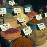 Close Up of Pyramids of Loose Spices for Sale in Local Market  Aswan  Egypt  North Africa  Africa