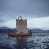 Replica Viking Ships  Oseberg  West Norway  Norway  Scandinavia  Europe