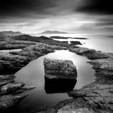 Erratic in Tidal Pool on Isle of Taransay  Outer Hebrides  Scotland  UK