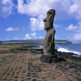 Moai Statue  Ahu Akapu  Easter Island  UNESCO World Heritage Site  Chile  South America
