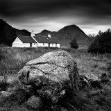 Black Rock Cottage and Buachaille Etive Mor  Rannoch Moor  Near Fort William  Highlands  Scotland