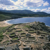 Celtic Ruins Near Porto Do Son  West Coast Castro De Barona  Galicia  Spain  Europe