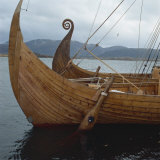 Replica Viking Ships  Oseberg and Gaia  Haholmen  West Norway  Norway  Scandinavia  Europe