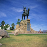 Rider Memorial in Front of the Alte Feste  Windhoek  Namibia  Africa