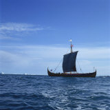 Viking Ship  Gaia  Replica of the Gokstad  Greenland  Polar Regions