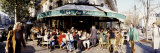 Group of People at a Sidewalk Cafe  Les Deux Magots  Saint-Germain-Des-Pres Quarter  Paris  France