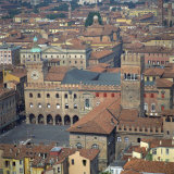 Aerial View over Central Bologna  Emilia-Romagna  Italy  Europe