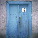 Blue Door in the Jewish Quarter of the City of Bukhara  Uzbekistan  Central Asia