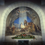 Interior of Church with Nativity Scene  Israel  Middle East