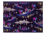 Venise  Fete De Nuit Furnishing Fabric  Woven Silk  France  c1921