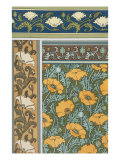 Poppies Wallpaper  Chromo-Lithograph  London  England  1897