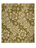 Fritillary Wallpaper  Colour Woodblock Print  England  1885