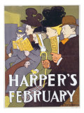 Harper's February  Poster Illustration Usa  1897