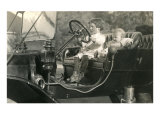 Children in Vintage Car